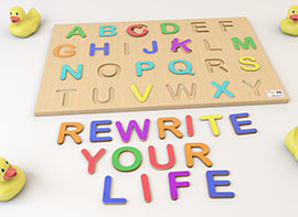 Wood letters message